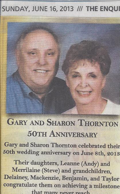 Gary and Sharon Celebrate 50 in 2013